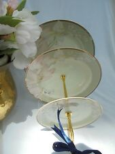 WEDDING CAKE STAND, 3 Tier Serving Tray, Stuart Grand Ivory Plate