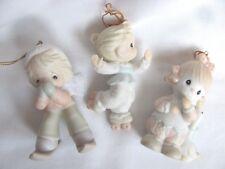 3 Precious Moments ornaments Porcelain No Boxes