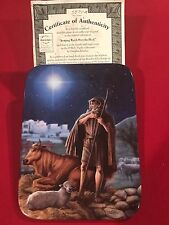 """Bradford Exchange """"O Holy Night"""" Collection Collector Plate #4 In The Series"""