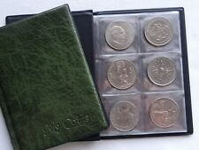 Coin Album for 48 big coins ( £5 ,Crown ,old 25p ,AUS 25 c and big other ) GREEN