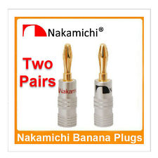 Nakamichi Speaker Banana Plug Premium 24K Gold Plated Pure Copper Audio Amp Jack