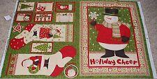 Christmas Snowman Wall Stocking Labels Panel Fabric Cotton Ho-Ho Holiday