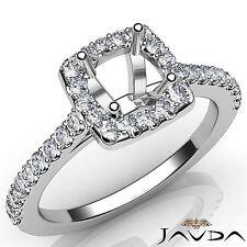 Diamond Engagement Round Semi Mount Shared Prong Setting Ring Platinum 950 0.5Ct