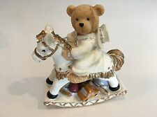 Casa Elite Teddy Bear on Rocking Horse by M. Valenti