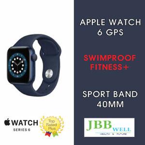 Apple Watch Series 6 40mm Blue Aluminium Case Deep Navy Sport Band - GPS