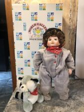 Rare World Gallery 19� Porcelain Doll W/ Plush Raccoon