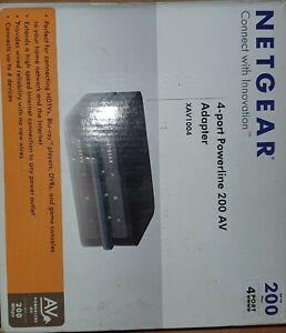 XAV1004 Netgear Powerline AV 200 Adapter With Ethernet Switch