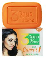 3 Days Fast Lightening Complexion Carrot Soap x 2 Bars + free cream- Free Ship