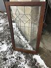 MK103 Antique leaded glass cabinet door Oak 24 x 41.75