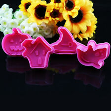 4pcs Halloween Pumpkin Cake Cookie Fondant Chocolate Mold Cutter Modelling Tools