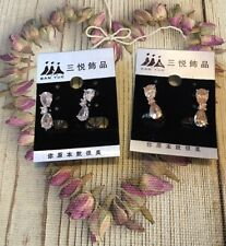 Zircon Elegant Cute Bow Earrings Girl Ladies Woman Gift For Her Fashion