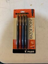 Pilot Razor Point Marker Pen Extra Fine Point 03mm Assorted Colors Pack Of