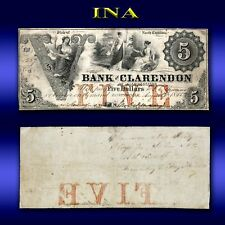 North Carolina Fayetteville Bank of Clarendon $5 Obsolete Currency Nice Grade