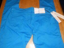 CK Calvin Klein Jeans Ladies Bright blue Denim Trousers Low Rise Skinny w28 34L