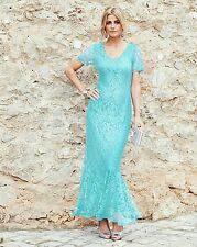A BRAND NEW  JOANNA HOPE  MINT   LACE MAXI DRESS UK SIZE 30 EU58  US26   L52'