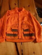 Vintage Columbia Orange Upland Bird Hunting Jacket Men's Large Tall EUC Quilted
