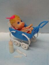 RARE 1967 Liddle Kiddles Sears Exclusive Baby Liddle Dressed Doll & Carriage++