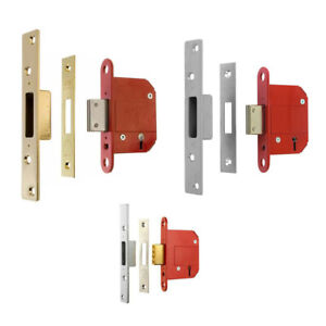 "ERA FORTRESS 5 Lever Mortice Locks - Deadlock - 2.5"" / 3"" - High Security - NEW"