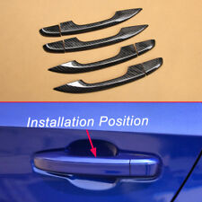 Door Handle Carbon Fiber Look Covers For 10th Honda Accord Without Keyless Entry