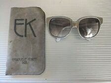 Emmanuelle Khanh *Rare* Gold Gray Sunglasses And Case - Handmade In France