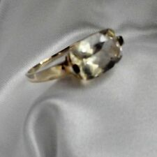 $60 OFF SALE 10kt YG ring,Yellow Labradorite 3.25ct,A+++ Mex,east/west,sz10
