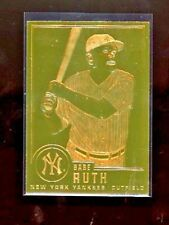 1996 BABE RUTH CMG WORLDWIDE #30 22K PLATED GOLD FOIL CARD.