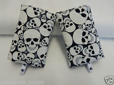 Baby Carrier Dribble Drool Pads Suits Most Carriers + Ergo -Glow In Dark Skulls