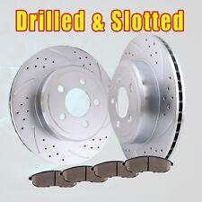 Front Drill Discs Brake Rotors and Ceramic Pads kit 2007 2008 2009 - 2013 Altima