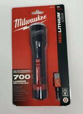 Milwaukee USB Red lithium Flashlight 700 Lumen 2110-21NEW SEALED 2020