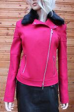 Women's Casual Wool Blend Biker Coats & Jackets