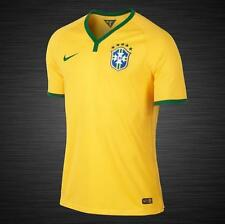 NWT Authentic $150 Oficial Nike 2014 Brasil CBF Mens Soccer/Football Home Jersey