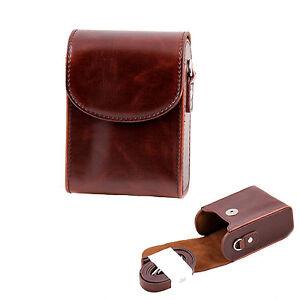 Leather Camera Case For Panasonic TZ70 TZ80 TZ90 TZ100 LX15 TZ100 TZ95