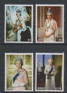 Jersey - 2015, QEII Longest Reigning British Monarch set - MNH - SG 1986/9