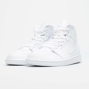 Size 13 - Nike 554724-129 Air Jordan 1 Mid Triple White