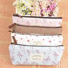 Lovely Vintage Flower Floral Pencil Pen Cosmetic Makeup Storage Bag Case Purse