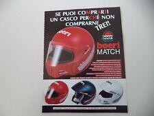 advertising Pubblicità 1987 CASCO HELMET BOERI MATCH