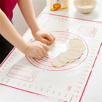 Non-Stick Silicone Rolling Dough Pad-Pastry Bakeware Liner Baking Mat Sheet Well