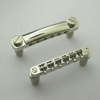 Epiphone Locktone Locking Tunomatic Adjustable Stop Tail Set Guitar Bridge Silv