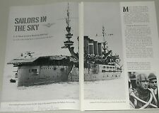 1961 magazine article on US NAVY AVIATION, 50th anniversary, planes, carriers