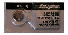Energizer Watch Battery 395/399 replaces SR927SW, SR927W,  V395, Type `LA` & `W`
