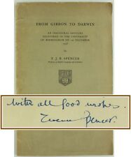 1958*FROM GIBBON TO CHARLES DARWIN*LECTURE*BIRMINGHAM UNIVERSITY*SIGNED*SPENCER*