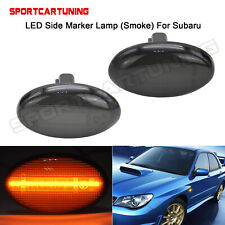 Smoked Lens 2x LED Side Fender Marker Lamps For Subaru Liberty Forester Impreza