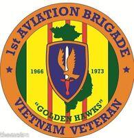 ARMY VIETNAM VETERAN 1ST AVIATION BRIGADE BUMPER CAR STICKER DECAL