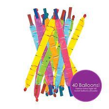 40 Flying Rocket Globos Tiger Tail Partido Bolsa Juguete favor cumpleaños regalo de Reino Unido