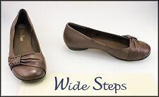 WIDE STEPS WOMEN'S FLAT CASUAL COMFORT BROWN FASHION SHOES SIZE 5 AUST 36 EUR