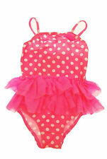 Spotted One-Piece Swimwear (0-24 Months) for Girls