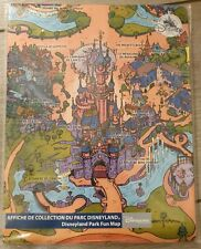 AFFICHE DE COLLECTION / Fun Map DU PARC / Park DISNEYLAND Disneyland Paris