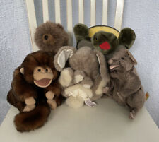 Folkmanis Hand Puppet Lot  5 Bunny Monkey Mouse Turtle Bear Great Condition