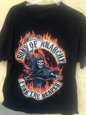 Men's Sons Of Anarchy Fear The Reaper Black T Shirt Size L