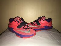 Nike KD Vii Basketball Shoes Youth Kids 7y Hyper Punch Purple 669942-601